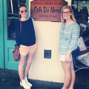 Molly & I at Cafe du Monde